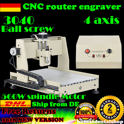 Graviermaschine 4Axis 3040 CNC Router Engraver Engraving Drilling AUS Germany!