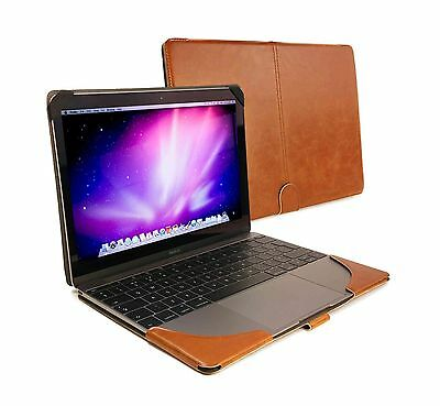 """Tuff-Luv Faux Leather case cover for MacBook 12"""" - Brown"""