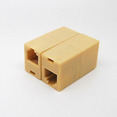 2x RJ-11 Phone Line Cable Coupler connector socket adapter ad01