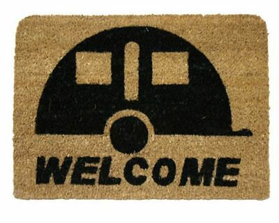 Doormat Caravan Entrance Mat Welcome Coir 36cm x 50cm