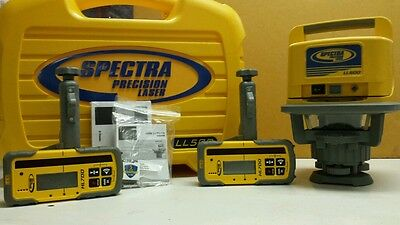 Trimble Spectra Precision LL500 Level W/ ((2)) HL700 LASEROMETERS DETECTOR