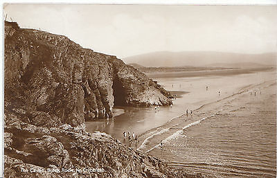 Wales Postcard - The Caves - Black Rocks - Near Criccieth   A5442
