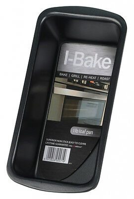 I-Bake Loaf Pan 1Lb Non Stick Grill Roast Reheat Bakeware Cookware