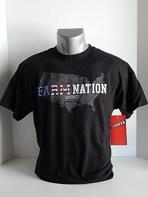 """Case IH Youth Black T-Shirt """"Farm Nation"""" - Size S,M and XL"""