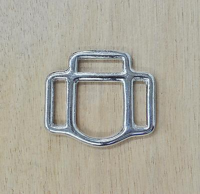 "3/4"" Halter Square NICKEL Hardware 3 sided EACH"