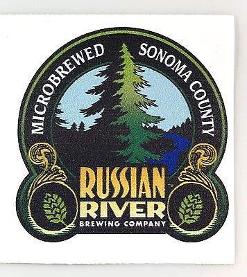 RUSSIAN RIVER Logo Sticker Decal 4in Brewery si
