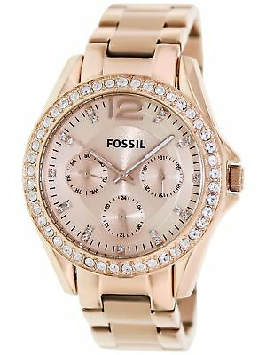 Fossil Women's Riley ES2811 Rose-Gold Stainless-Steel Analog Quartz Watch