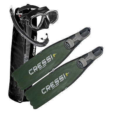 Cressi Pinne Gara Modular Camou Green + PERLA MARE + FINS BAG 01IT