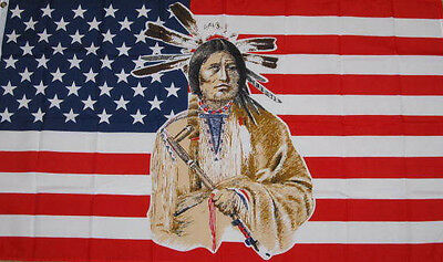 NEW 3x5 ft U.S.A NATIVE AMERICAN INDIAN FLAG