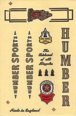 Humber Vintage Bike Bicycle Sticker Decal Nos High Quality 1 Sheet
