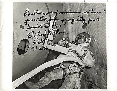 Astronaut Richard Gordon Signed & Inscribed Photograph