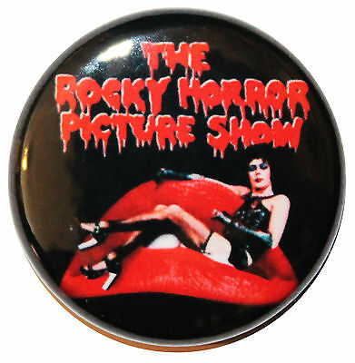 """1"""" (25mm) 'The Rocky Horror Picture Show' 1975 Movie Button Badge Pin"""