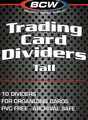20 White Plastic Tall Card Dividers for Sport Gaming Trading Card Boxes  New