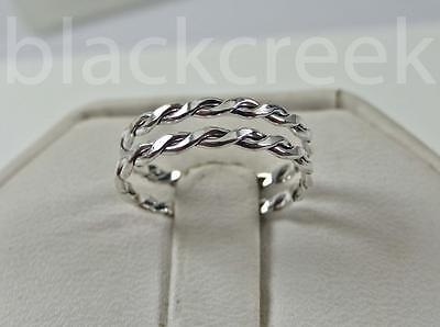 .925 Sterling Silver ~Lady's Double band ~ Midi Ring ~ Size 3/3.5/4/5