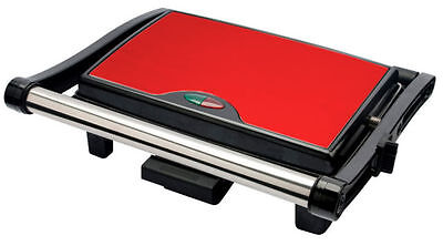 Stainless Steel 3 Slice Panini Sandwich Press & Health Grill Maker Drip Tray