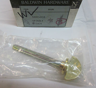 "Baldwin 5082.030 3"" Closet Spindle POLISHED BRASS NEW!"