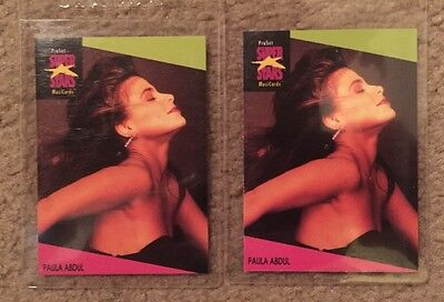 1991 Pro Set Super Stars Paula Abdul Music Card MusiCards 2pcs