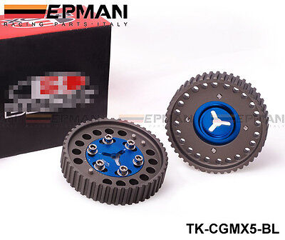 RACING ADJUSTABLE BLUE CAM GEARS PAIR fits MAZDA MX5 B6 BP DRIFTING RALLY