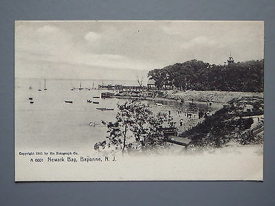 R&L Postcard: Early Undividen Back of Newark Bay Bayonne New Jersey USA