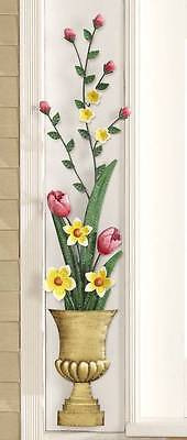 Lovely Tulips & Spring Flowers Metal Indoor or Outdoor Wall Hanging
