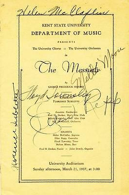 Program from 1937 Signed by Five Stars