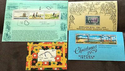 1979-96 Norfolk Island Selyn of 4 different mini sheets