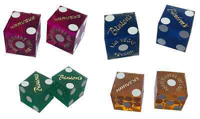 4 Different Coloured Pairs of Casino  Dice / Craps Green / Blue / Pink / Yellow*