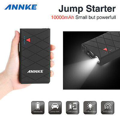 ANNKE 10000mAh 12V Car Jump Starter Pack Booster Charger Battery Mini Power Bank