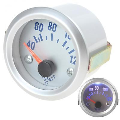 2 Inch 52mm 12V Blue Light Silver Car Water Temperature Meter Gauge + Sensor