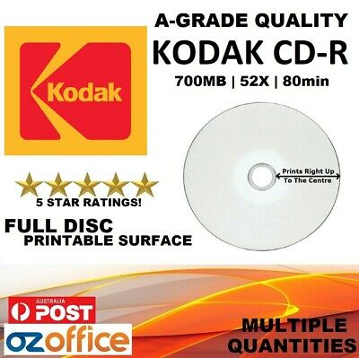 EXCLUSIVE HP CD-R 52x Inkjet Printable Blank CD 10 50 100 600 TDK CD Quality A++