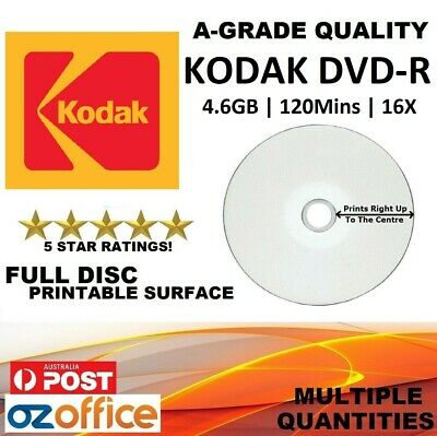 A+ Grade Quality HP DVD-R Full Inkjet Printable Blank DVD Discs Media 4.7GB 16X