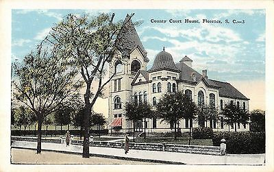 County Court House, florence Antique Postcard (T3355)
