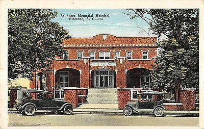 Saunders Memorial Hospital, Florence, S.C. Antique Postcard (T3356)