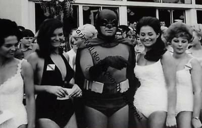 Batman 1966 Adam West Beauty Contest Women DC Comics Movie Vintage Photo A9