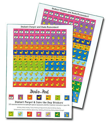 Dodo 'Save the Day' Stickers: 320 fun self-adhesive reminders in 14 designs