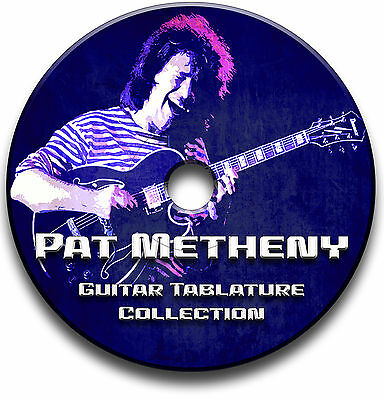 Pat Metheny Jazz Guitar & Piano Tabs Tablature Song Book Software Cd