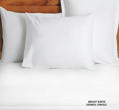60 New White Standard 20''x30'' Size Hotel Pillow Cases Covers T-180