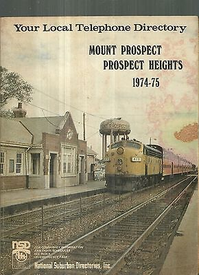 1974-75 Mount Prospect and Prospect Heights Illinois Telephone Directory Chicago