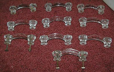 10 Glass drawer/cabinet pulls  handles Great Lot for any use!