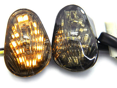 Smoke Led Flush Mount Turn Signals Indicators For 2003-2014 Yamaha Yzf R1 R6 R6S