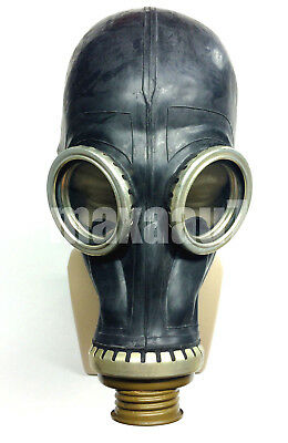 soviet russian black rubber gas mask GP-5 size 3 Large adult size
