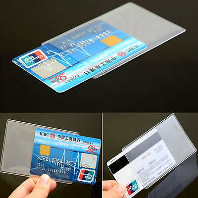 New 10PCS PVC Transparent Credit Card Holder Protect ID Card Business Card Cover