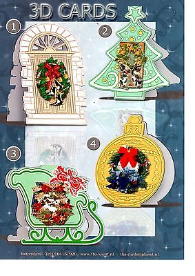 Box of 200 TBZ Christmas Cardmaking Packs 3D Decoupage with Envelopes 539306
