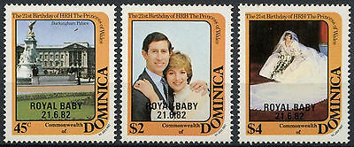 Dominica 1982 Royal Baby Birth MNH Set #A90408