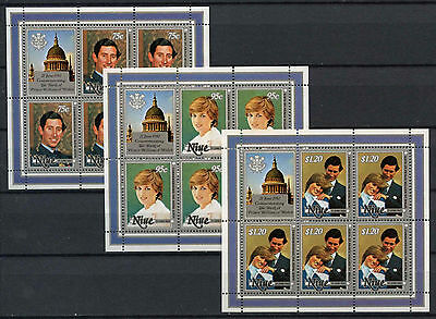 Niue 1982 Royal Baby Birth MNH Sheetlets Set #A90437