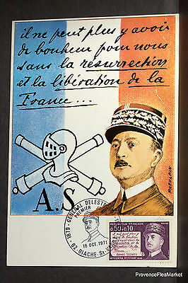 GENERAL DELESTRAINT  FRANCE CPA Carte Postale Maximum  yt 1689