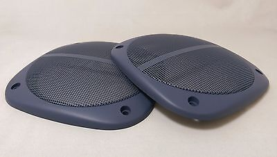 138mm square speaker grille / cover in Blue (pair)