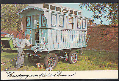 "Gypsy Postcard - ""We Are Staying In One Of The Latest Caravans""  DR427"
