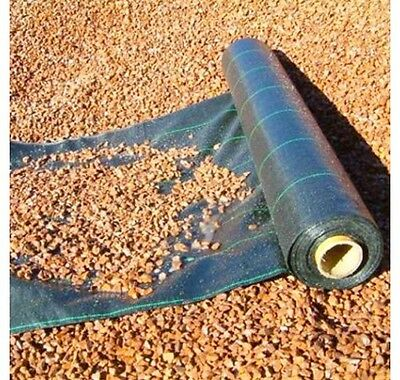 3.3 Metre WIDE WEED CONTROL LANDSCAPE DRIVEWAY GROUND FABRIC MEMBRANE 100gsm