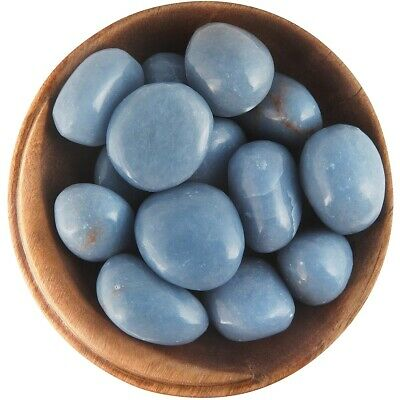 1 ANGELITE - Ethically Sourced, 1 Inch Tumbled Stone